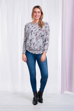 Floral Printed Top With Waist Band