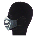 Load image into Gallery viewer, King Cobra Store 100% polyester mouth and face mask protection against dust pollen pollution or airborne covid 19 corona viruses elastic straps comfortable breathing and wearing reusable washable inspired by Anonymous international activist hacktivist collective movement cyber attacks computer hacking V for Vendetta film movie political action film Hugo Weaving V masked man