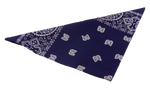 Load image into Gallery viewer, Vintage rockabilly hiphop pirate paisley bandana hairclip handkerchief headscarf neckerchief scarf shawl around your neck or head or arm, accessory on your bag or belt, protection against the sun, sweat, dust, pollen, airborne pollution and viruses