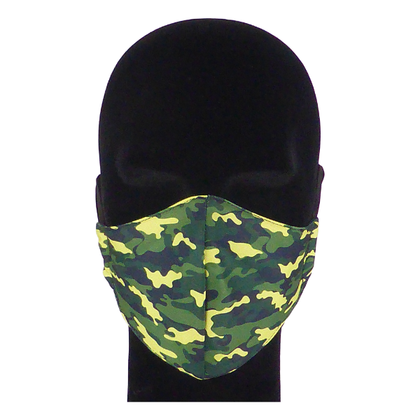 King Cobra Store 100% polyester mouth and face mask protection against dust pollen pollution or airborne covid 19 corona viruses elastic straps comfortable breathing and wearing reusable washable inspired by khaki army camouflage pattern