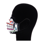 Load image into Gallery viewer, King Cobra Store 100% polyester mouth and face mask protection against dust pollen pollution or airborne covid 19 corona viruses elastic straps comfortable breathing and wearing reusable washable inspired by candy skull sugar skull Mexican celebration Day of the Dead Dia de Muertos All Souls Day Calaveras Pixar Coco movie film