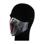 Load image into Gallery viewer, King Cobra Store 100% polyester mouth and face mask protection against dust pollen pollution or airborne covid 19 corona viruses elastic straps comfortable breathing and wearing reusable washable inspired by Cat mouth snout design half face