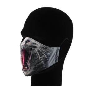 King Cobra Store 100% polyester mouth and face mask protection against dust pollen pollution or airborne covid 19 corona viruses elastic straps comfortable breathing and wearing reusable washable inspired by Cat mouth snout design half face