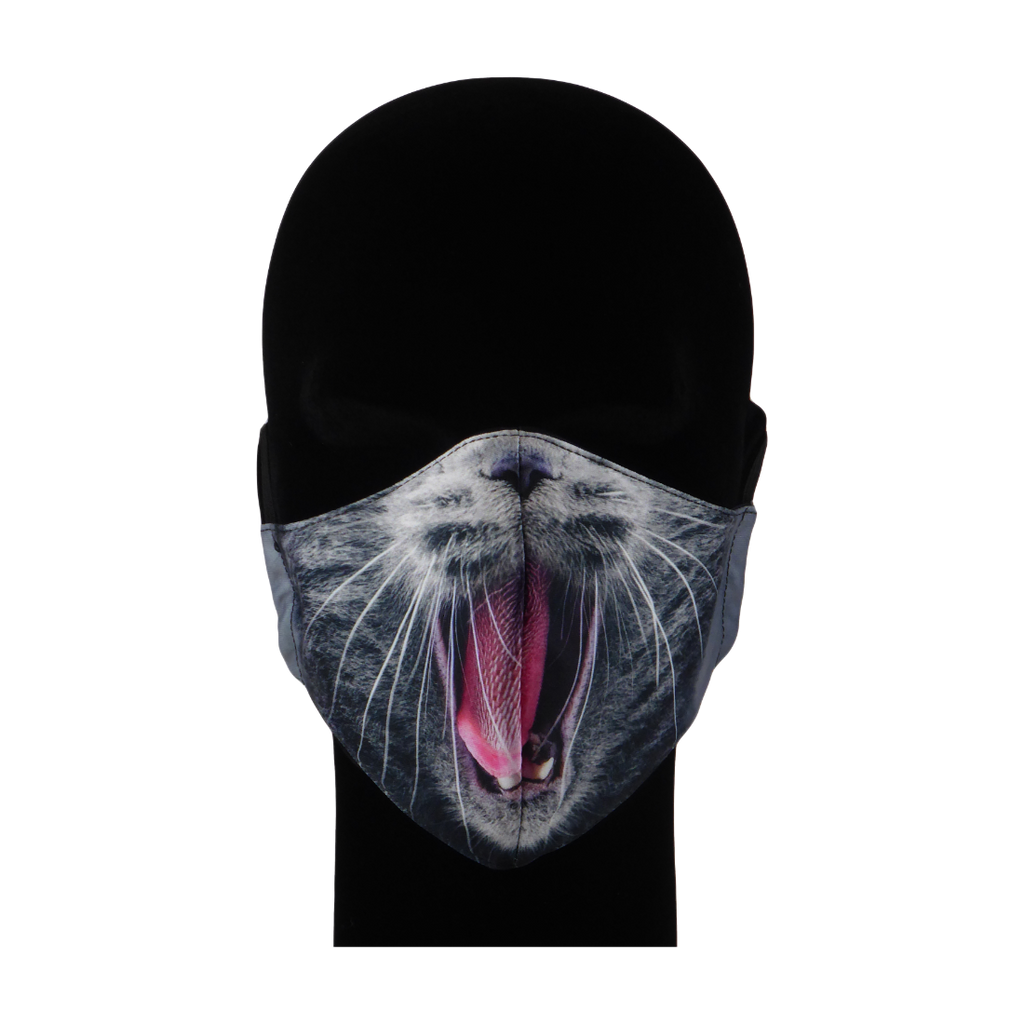 King Cobra Store 100% polyester mouth and face mask protection against dust pollen pollution or airborne covid 19 corona viruses elastic straps comfortable breathing and wearing reusable washable inspired by Cat mouth snout design
