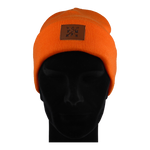 Load image into Gallery viewer, King Cobra Store muts geribbeld rib cuffed beanie in orange wool knit streatchy streachable winter hat unisex adult acrylic acryl polyester regular fit sport ski snowboard fitness Carhartt The North Face Obey Element Herschel