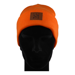 King Cobra Store muts geribbeld rib cuffed beanie in orange wool knit streatchy streachable winter hat unisex adult acrylic acryl polyester regular fit sport ski snowboard fitness Carhartt The North Face Obey Element Herschel