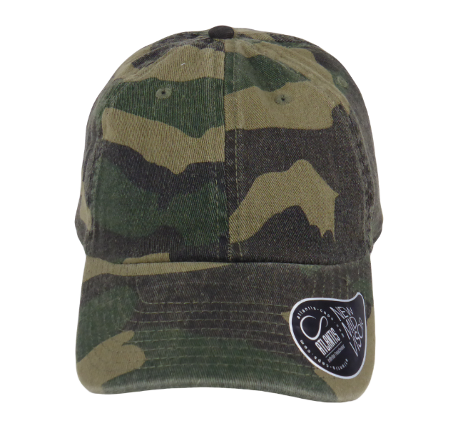 King Cobra Store Baseball cap Altlantis curved visor in black camouflage kaki kakhi olive stonewash twill 6 panels 6 stitched eyelets matching twill tape closure with adjustable metal buckle to fit all one size 100% soft touch cotton