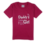 Load image into Gallery viewer, King Cobra Store cotton short sleeve kids T-shirt in pink with a unique King Cobra Store design inspired by daddy's little girl