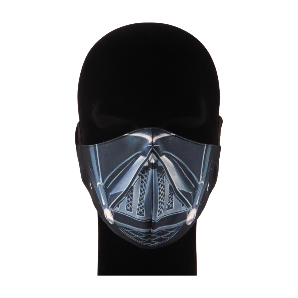 King Cobra Store 100% polyester mouth and face mask protection against dust pollen pollution or airborne covid 19 corona viruses elastic straps comfortable breathing and wearing reusable washable inspired by Darth Vader Anakin Skywalker Star Wars