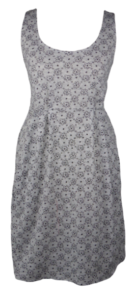 Cotton short one size fits all summer spring dress ( XS to L) with pattern and 2 pockets on both sides. Elastic strings at the back. Unique King Cobra Store design inspired by a cute daisy pattern