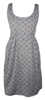 Load image into Gallery viewer, Cotton short one size fits all summer spring dress ( XS to L) with pattern and 2 pockets on both sides. Elastic strings at the back. Unique King Cobra Store design inspired by a cute daisy pattern