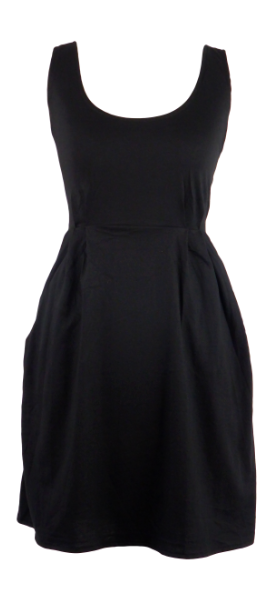Plain black short cotton one size fits all summer spring dress ( XS to L) with 2 pockets on both sides. Elastic strings at the back. Unique King Cobra Store design inspired by metal music black