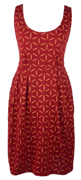 Cotton short one size fits all summer spring dress ( XS to L) with pattern and 2 pockets on both sides. Elastic strings at the back. Unique King Cobra Store design inspired by a pattern of shiny or stripe Nova stars