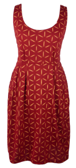 Load image into Gallery viewer, Cotton short one size fits all summer spring dress ( XS to L) with pattern and 2 pockets on both sides. Elastic strings at the back. Unique King Cobra Store design inspired by a pattern of shiny or stripe Nova stars