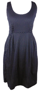 Cotton short one size fits all summer spring dress ( XS to L) with pattern and 2 pockets on both sides. Elastic strings at the back. Unique King Cobra Store design inspired by a pattern of polka dots