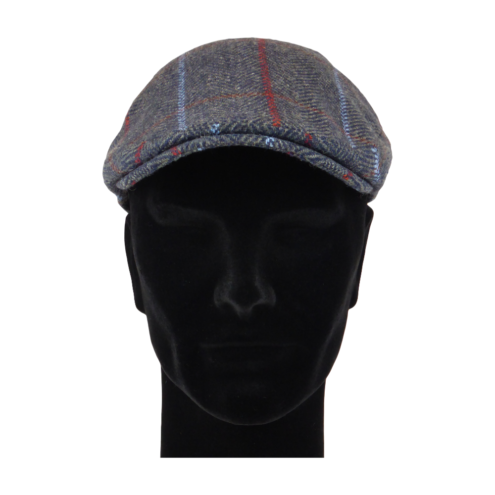 King Cobra Store flat cap color grey red blue checked tartan lines platte pet modern shape hat 1900 1910 timeless Brixton Oslo cap Barts Stetson Dickies Ted Baker Profuomo Texas flat cap Tucson Hooligan Peaky Blinders Gatsby all seasons autumn winter spring basic streetwear rockabilly tattoo vintage casual wool tweed plain tartan striped check checked pattern herringbone visgraat motief patroon size 55 56 57 58 59 60