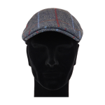Load image into Gallery viewer, King Cobra Store flat cap color grey red blue checked tartan lines platte pet modern shape hat 1900 1910 timeless Brixton Oslo cap Barts Stetson Dickies Ted Baker Profuomo Texas flat cap Tucson Hooligan Peaky Blinders Gatsby all seasons autumn winter spring basic streetwear rockabilly tattoo vintage casual wool tweed plain tartan striped check checked pattern herringbone visgraat motief patroon size 55 56 57 58 59 60
