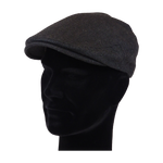 Load image into Gallery viewer, King Cobra Store flat cap color dark grey black large herringbone visgraat platte pet modern shape hat 1900 1910 timeless Brixton Oslo cap Barts Stetson Dickies Ted Baker Profuomo Texas flat cap Tucson Hooligan Peaky Blinders Gatsby all seasons autumn winter spring basic streetwear rockabilly tattoo vintage casual wool tweed plain tartan striped check checked pattern herringbone visgraat motief patroon size 55 56 57 58 59 60
