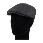 Load image into Gallery viewer, King Cobra Store flat cap color grey black small herringbone visgraat platte pet modern shape hat 1900 1910 timeless Brixton Oslo cap Barts Stetson Dickies Ted Baker Profuomo Texas flat cap Tucson Hooligan Peaky Blinders Gatsby all seasons autumn winter spring basic streetwear rockabilly tattoo vintage casual wool tweed plain tartan striped check checked pattern herringbone visgraat motief patroon size 55 56 57 58 59 60