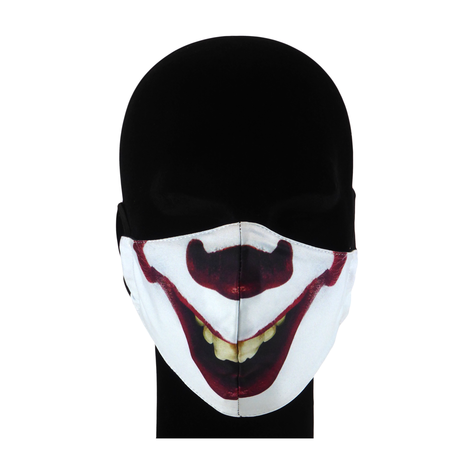 King Cobra Store 100% polyester mouth and face mask protection against dust pollen pollution or airborne covid 19 corona viruses elastic straps comfortable breathing and wearing reusable washable inspired by thriller horror movie film Warner Bros Stephan King roman It clown Pennywise balloon