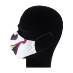 Load image into Gallery viewer, King Cobra Store 100% polyester mouth and face mask protection against dust pollen pollution or airborne covid 19 corona viruses elastic straps comfortable breathing and wearing reusable washable inspired by thriller horror movie film Warner Bros Stephan King roman It clown Pennywise balloon