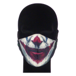 Load image into Gallery viewer, King Cobra Store 100% polyester mouth and face mask protection against dust pollen pollution or airborne covid 19 corona viruses elastic straps comfortable breathing and wearing reusable washable inspired by The Joker Joaquin Phoenix