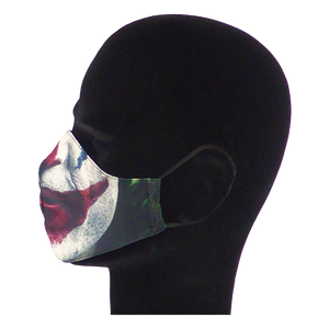King Cobra Store 100% polyester mouth and face mask protection against dust pollen pollution or airborne covid 19 corona viruses elastic straps comfortable breathing and wearing reusable washable inspired by The Joker Joaquin Phoenix