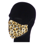 Load image into Gallery viewer, King Cobra Store 100% polyester mouth and face mask protection against dust pollen pollution or airborne covid 19 corona viruses elastic straps comfortable breathing and wearing reusable washable inspired by animal leopard pattern design half face maks
