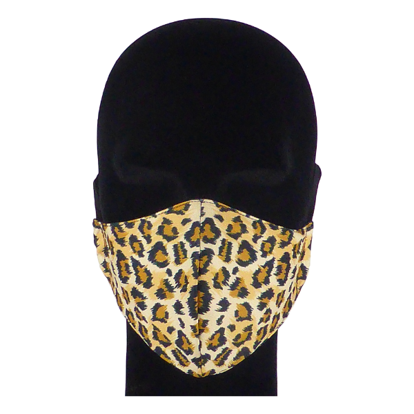 King Cobra Store 100% polyester mouth and face mask protection against dust pollen pollution or airborne covid 19 corona viruses elastic straps comfortable breathing and wearing reusable washable inspired by animal leopard pattern design half face maks