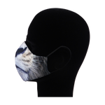 Load image into Gallery viewer, King Cobra Store 100% polyester mouth and face mask protection against dust pollen pollution or airborne covid 19 corona viruses elastic straps comfortable breathing and wearing reusable washable inspired by animal half face lion mask mouth and nose