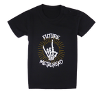 Load image into Gallery viewer, Cotton short sleeve kids T-shirt in black with a unique King Cobra Store design inspired by rock metal music future metalhead