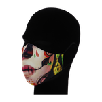 Load image into Gallery viewer, King Cobra Store 100% polyester mouth and face mask protection against dust pollen pollution or airborne covid 19 corona viruses elastic straps comfortable breathing and wearing reusable washable inspired by Mexican skull female candy skull sugar skull Mexican celebration Day of the Dead Dia de Muertos All Souls Day Calaveras Pixar Coco movie film