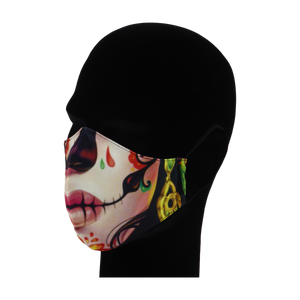 King Cobra Store 100% polyester mouth and face mask protection against dust pollen pollution or airborne covid 19 corona viruses elastic straps comfortable breathing and wearing reusable washable inspired by Mexican skull female candy skull sugar skull Mexican celebration Day of the Dead Dia de Muertos All Souls Day Calaveras Pixar Coco movie film