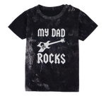 Load image into Gallery viewer, Cotton short sleeve kids T-shirt in black, blue, pink, red and stonewash with a unique King Cobra Store design inspired by my dad rocks metal rock music