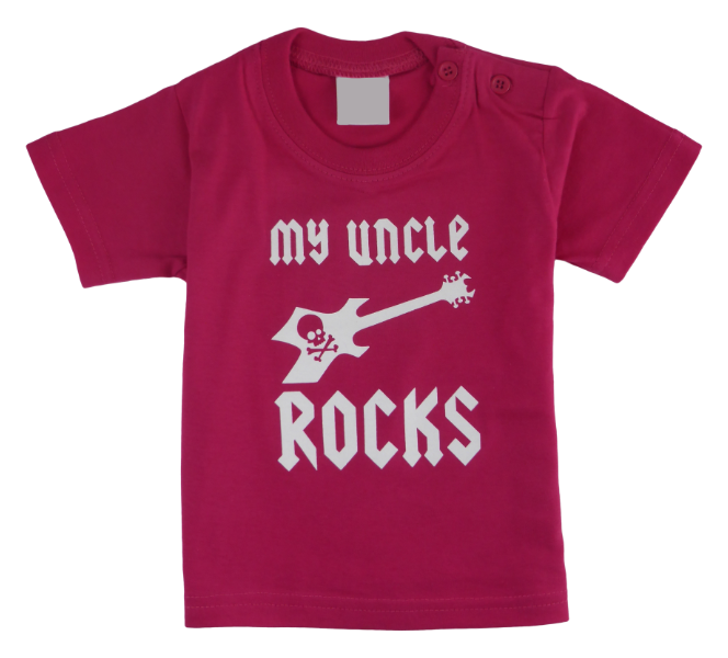Cotton short sleeve kids T-shirt in black, blue, fucshia, red and stonewash with a unique King Cobra Store design inspired by my uncle rocks metal rock music