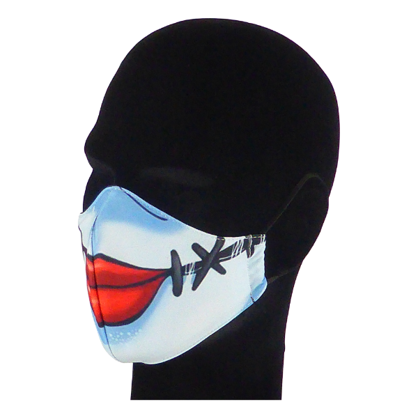 King Cobra Store 100% polyester mouth and face mask protection against dust pollen pollution or airborne covid 19 corona viruses elastic straps comfortable breathing and wearing reusable washable inspired by Sally Nightmare Before Christmas Tim Burton