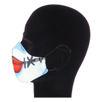 Load image into Gallery viewer, King Cobra Store 100% polyester mouth and face mask protection against dust pollen pollution or airborne covid 19 corona viruses elastic straps comfortable breathing and wearing reusable washable inspired by Sally Nightmare Before Christmas Tim Burton