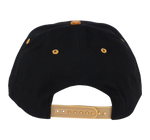 Load image into Gallery viewer, King Cobra Store Snapback Baseball cap Carbon 212 in Twill flat brim flat visor squared visor in cork and black stitched eyelets 6 panel high shape front panel adjustable PVC closure to fit all one size square cork CRBN patch logo