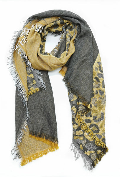 DAGNY Gaze animal Scarves Mustard
