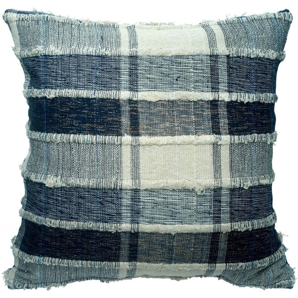 DAGNY Cushion cover #188A Cushion cover Blue/Off White/Lurex