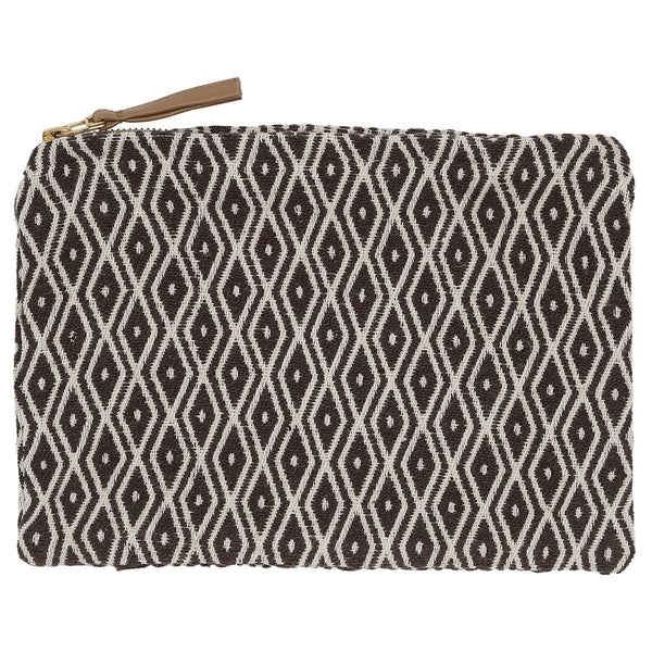 DAGNY Pouch #428 Pouch Brown/Offwhite