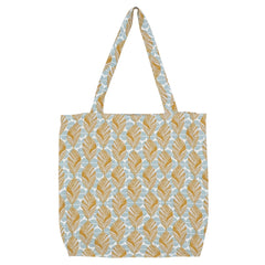 DAGNY Shopper #19125 Bag Mustard/Blue/Offwhite