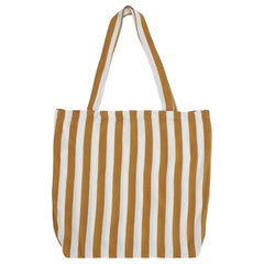 DAGNY Shopper #19057 Bag Mustard/White stripe