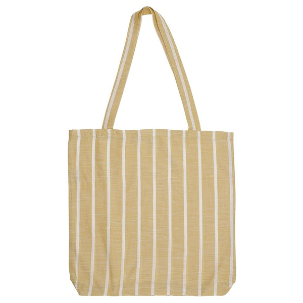 DAGNY Shopper #19045 Bag Mustard/White stripe