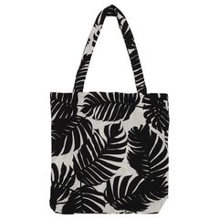 DAGNY Shopper #19116 Bag Sand w/black leaves