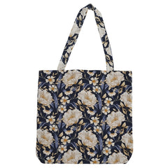 DAGNY Shopper #19107 Bag Blue w/flowers