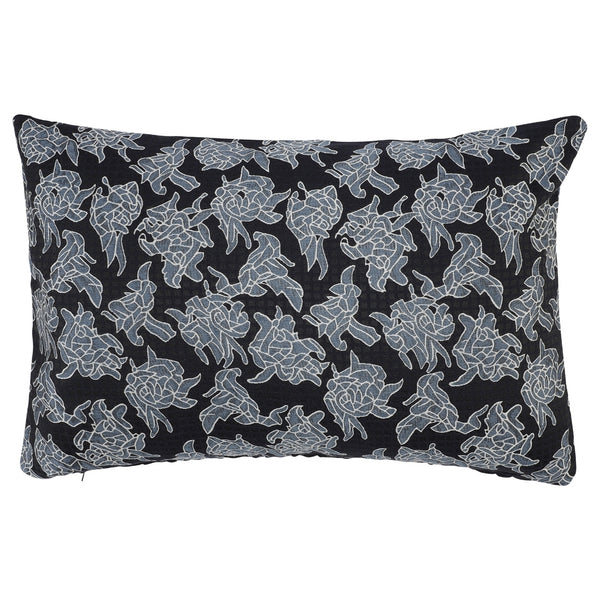 DAGNY #126-554/40 Cushion cover Navy w/flowers