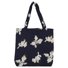 DAGNY Shopper #19113 Bag Blue w/flowers