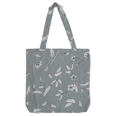 DAGNY Shopper #19103 Bag Dusty blue w/flowers