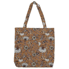 DAGNY Shopper #19106 Bag Mustard w/flowers